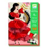 DJECO Художественный комплект шитье лентами Фламенко