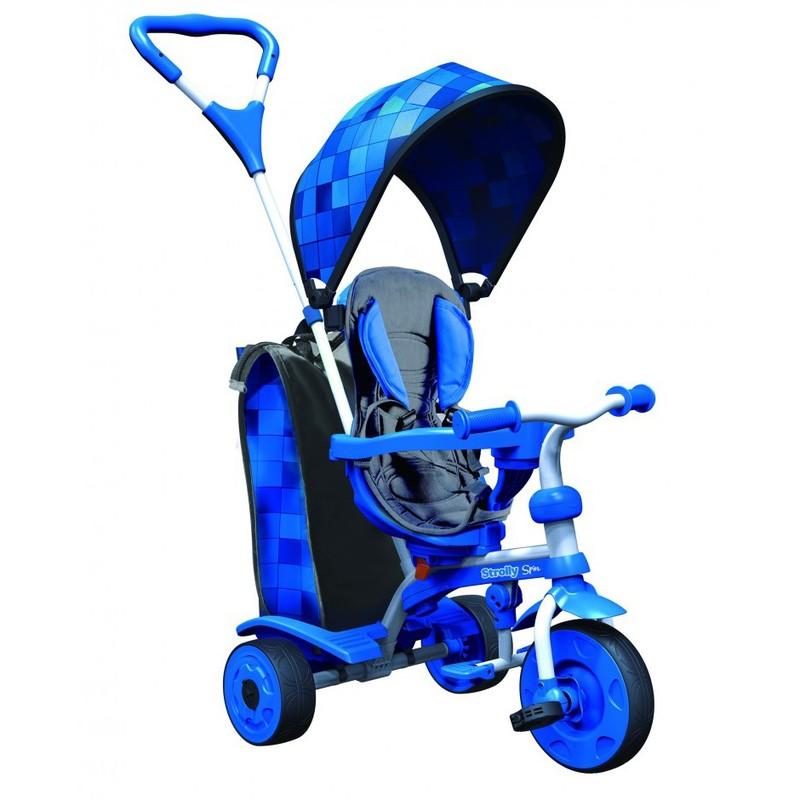 Детский велосипед Spin синяя мозаика