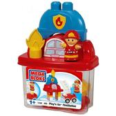 Набор конструктора Пожарная станция, 12дет.,1+ от Mega Bloks (Мега Блокс)