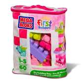 Набор конструктора в пакете Розовый серии Первые строители. от Mega Bloks (Мега Блокс)