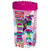 Набор конструктора Розовый (40дет.), 3+ от Mega Bloks (Мега Блокс)
