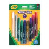 Жидкий клей с блестками 9 цветов, 3+ от Crayola (Крайола)