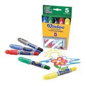 5 восковых мелков для рисования на стекле, 3+ от Crayola (Крайола)