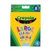 8 больших смываемых восковых мелков, 3+ от Crayola (Крайола)