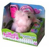 Интерактивная игрушка Пушистик на прогулке, розовый, розовый поводок от AniMagic