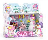 Кукла Пинипон в зимней одежде со снеговиком и собакой серия Зимняя сказка от Pinypon (Пинипон)