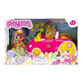 Розовый автомобиль с куклой и аксессуарами для пикника, серия Пинипон от Pinypon (Пинипон)