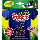 8 фломастеров для рисования на ткани от Crayola (Крайола)