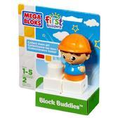 МБ Серия First Builders. Набор конструктора с фигуркой Строитель;2дет.;1+ от Mega Bloks (Мега Блокс)