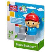 МБ Серия First Builders. Набор конструктора с фигуркой Механик;2дет.;1+ от Mega Bloks (Мега Блокс)
