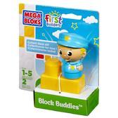 МБ Серия First Builders. Набор конструктора с фигуркой Офицер;2дет.;1+ от Mega Bloks (Мега Блокс)