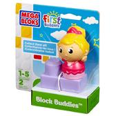 МБ Серия First Builders. Набор конструктора с фигуркой Балерина;2дет.;1+ от Mega Bloks (Мега Блокс)