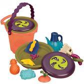 Набор для игры с песком и водой Ведерце папайя  (11 предметов)
