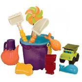 Набор для игры с песком и водой Солнечный Денек (11 аксессуаров, в сумочке)