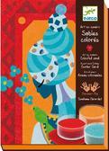 Художественный комплект - рисование цветным песком Голубые принцессы от DJECO (Джеко)