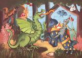 Пазл 36 Рыцарь и Дракон