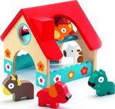 Деревянная игра мини Ферма 5 животных от DJECO (Джеко)