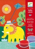 Художественный комплект рисование цветным песком Прогулка от DJECO (Джеко)