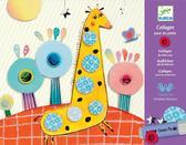 Художественный комплект - Коллаж для самых маленьких Зверята от DJECO (Джеко)