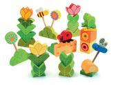 Деревянная игра Цветочная поляна 36 деталей