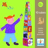 Пирамидка Забавные кубики от DJECO (Джеко)