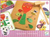 Деревянная игра-аппликация с молоточком Сад цветов от DJECO (Джеко)