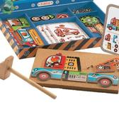 Деревянная игра-аппликация с молоточком Транспорт от DJECO (Джеко)
