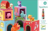 Набор картонных кубиков с аксессуарами Топанимо ферма (6 кубиков и 6 фигурок животных)