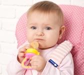Ниблер силиконовый для кормления младенца с дополнительной насадкой (розовый) от KINDERENOK