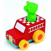 Деревянные машинки с фигурками: Иван, Патрик, Сем. Ks Kids, зайчик Иван в такси от K S KIDS