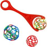 Каталка с мячом OBall с погремушкой в середине, красный от OBall