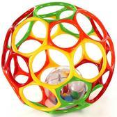 Мяч OBall с погремушкой в середине, желтый красный зеленый оранжеый от OBall