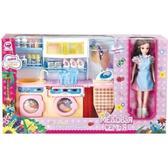 Детский игровой набор - Прачечная Медовая семья с куклой 29 см от QunFengToys