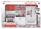 Детский игровой набор - Кухня в красном цвете. 47.5*9.5*35 см 6 предметов от QunFengToys
