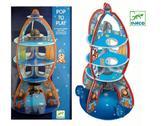 Пазлы детские картонные Космический корабль 3D (15 эл.) от DJECO (Джеко)