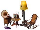 Коллекционный набор сборной мебели из картона Торшер и обстановка от Умная бумага (Умбум)