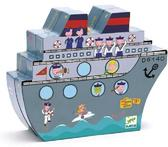 Игра настольная детская деревянная тактика Морского боя от DJECO (Джеко)