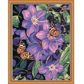 Бабочки на цветах, 40х50см