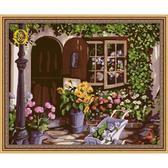 Уютный цветочный магазин, 40х50см