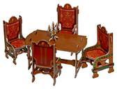 Коллекционный набор сборной мебели из картона Столовая от Умная бумага (Умбум)